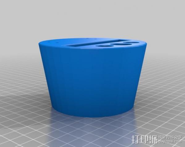 车载式iPhone手机座 扩音器 3D模型  图4