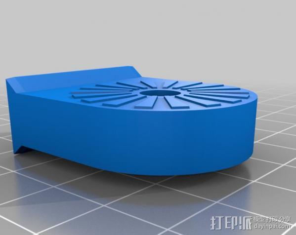 车载式iPhone手机座 扩音器 3D模型  图6