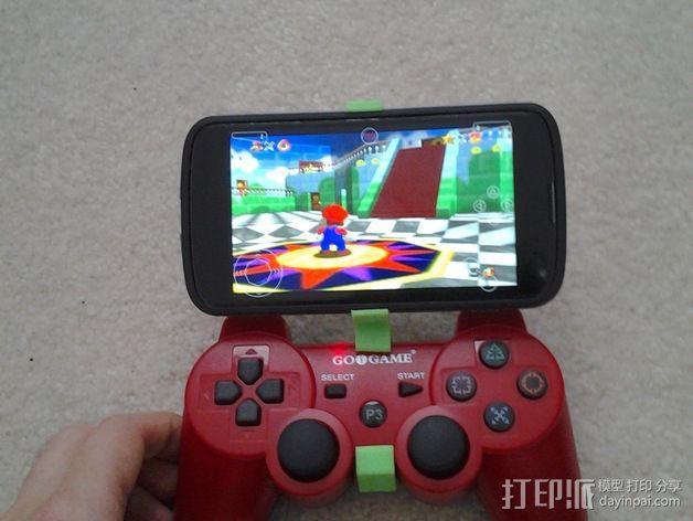 Nexus 4 手机游戏手柄夹 3D模型  图2
