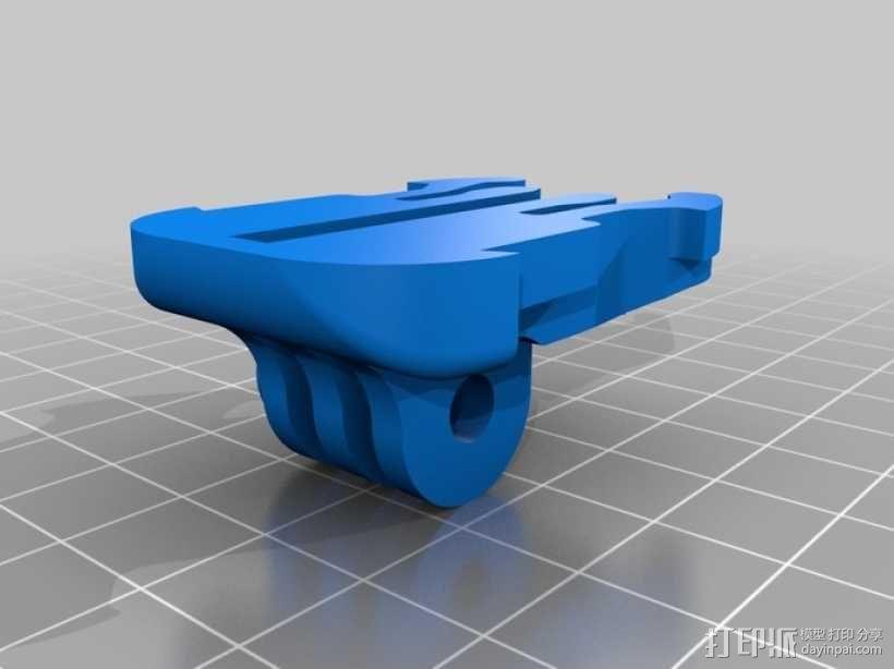 GoPro相机固定器 底座  3D模型  图2