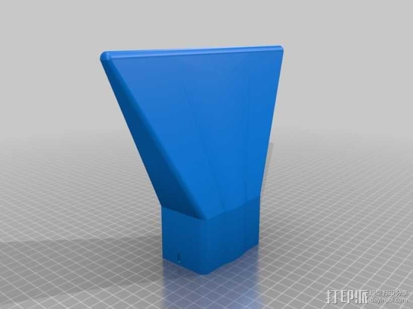 佳能580EX II相机闪光灯罩 3D模型  图3