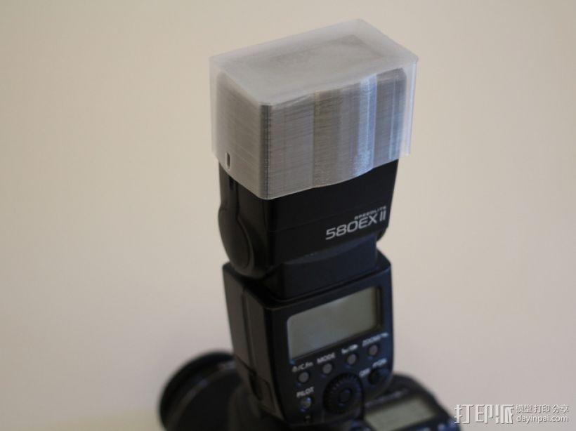 佳能580EX II相机闪光灯罩 3D模型  图4
