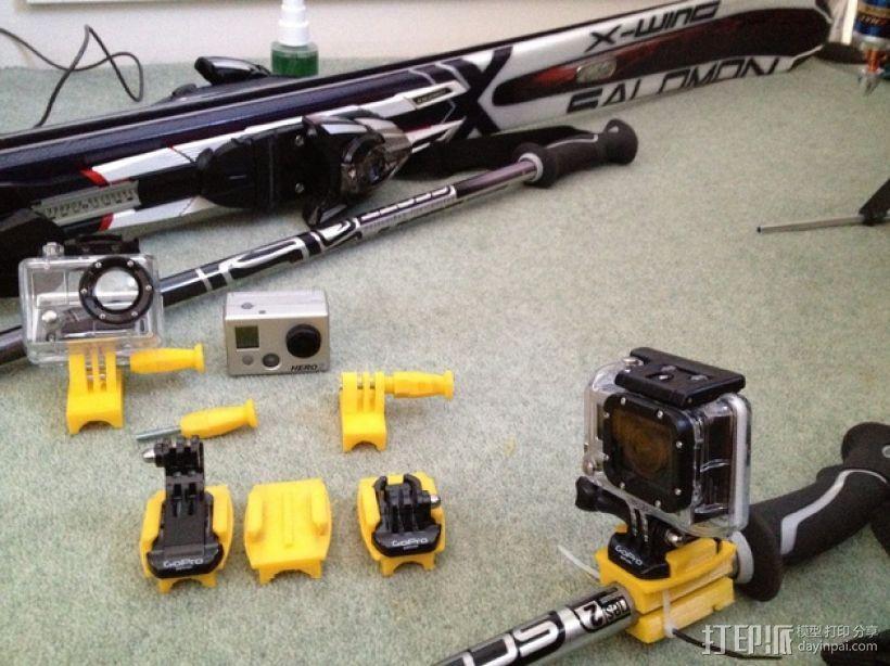 Gopro Hero 相机固定器 3D模型  图1