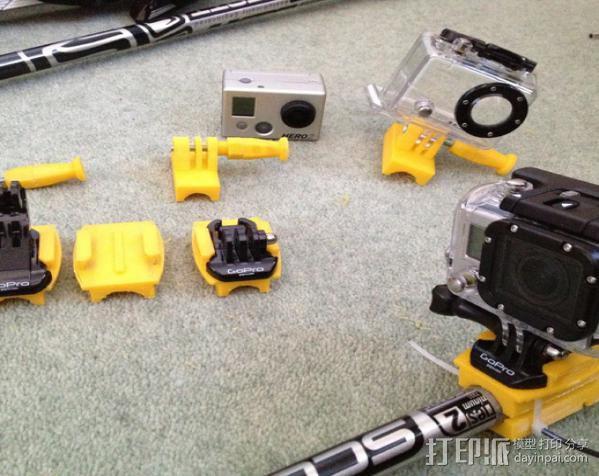 Gopro Hero 相机固定器 3D模型  图2
