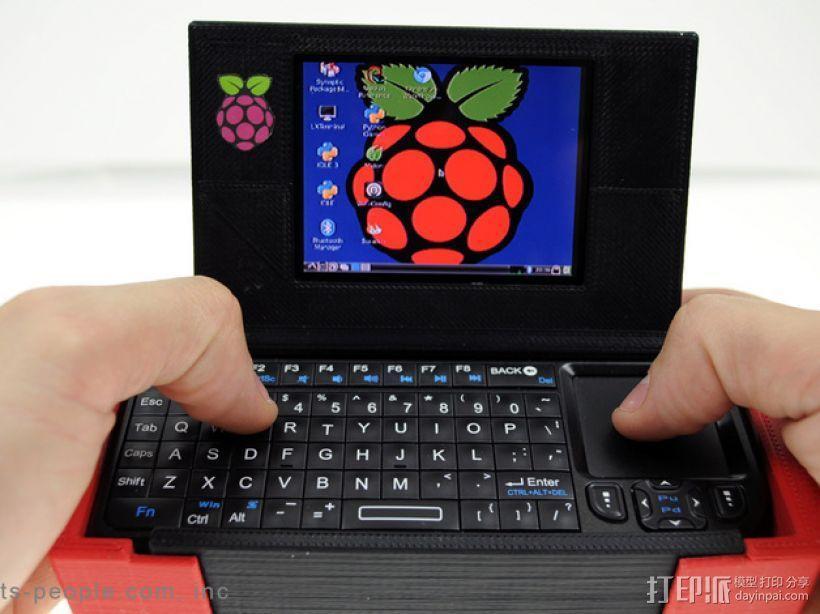 树莓派游戏机外盒 3D模型  图1
