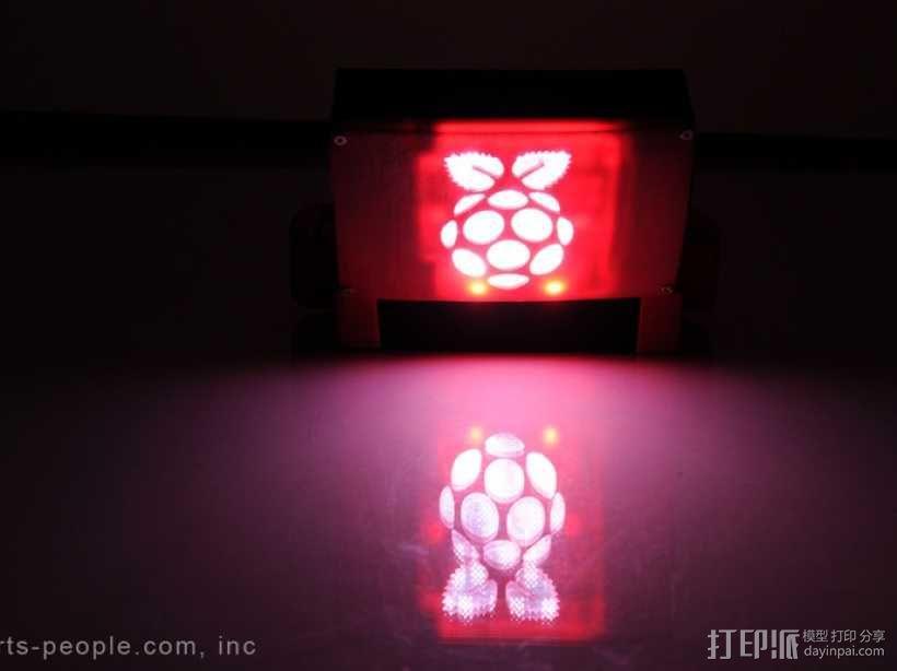 树莓派游戏机外盒 3D模型  图5