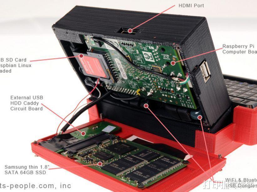 树莓派游戏机外盒 3D模型  图3