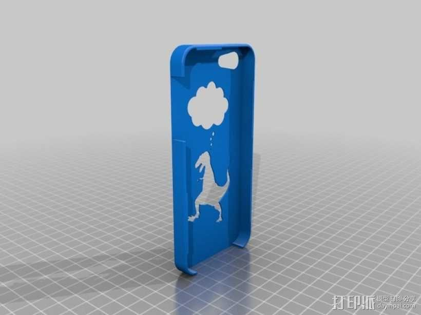 恐龙手机外壳 3D模型  图1