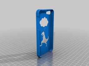 恐龙手机外壳 3D模型