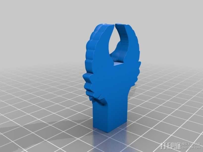 创客标志翅膀USB外壳 3D模型  图1
