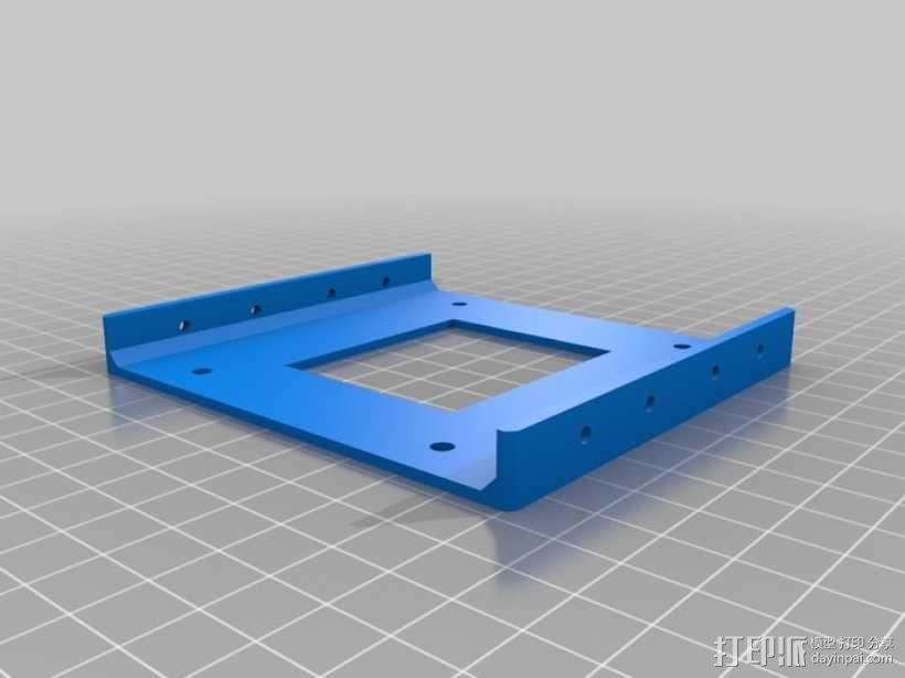硬盘驱动适配器 保护框  3D模型  图1