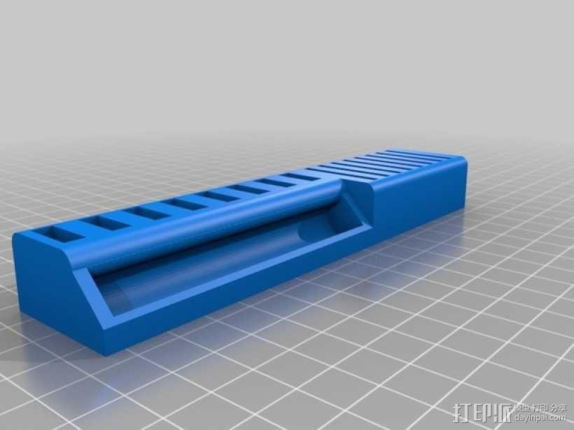 USB和SD卡收纳盒 3D模型  图1