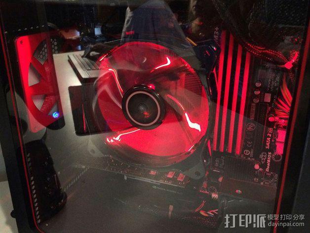 电脑CPU风扇罩 3D模型  图1