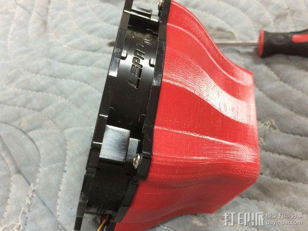 电脑CPU风扇罩 3D模型  图3