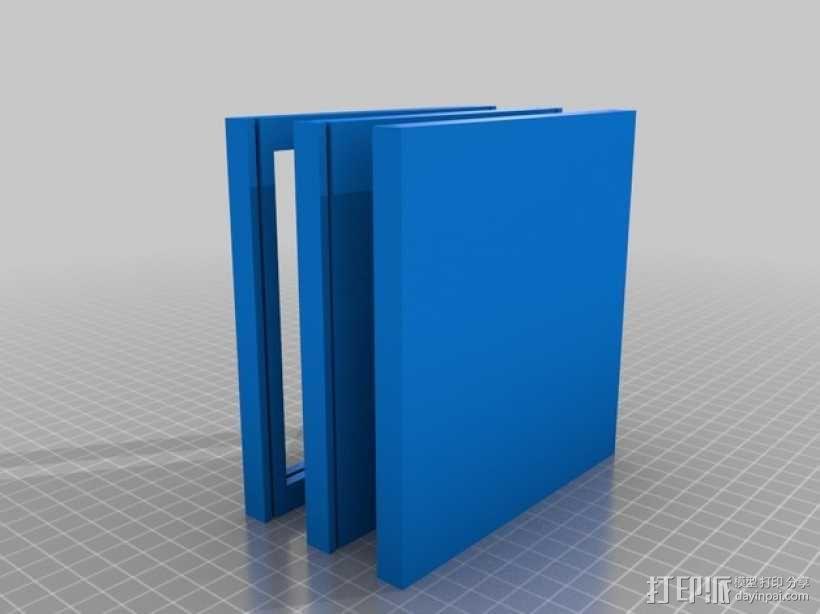 双层硬盘盒 3D模型  图3