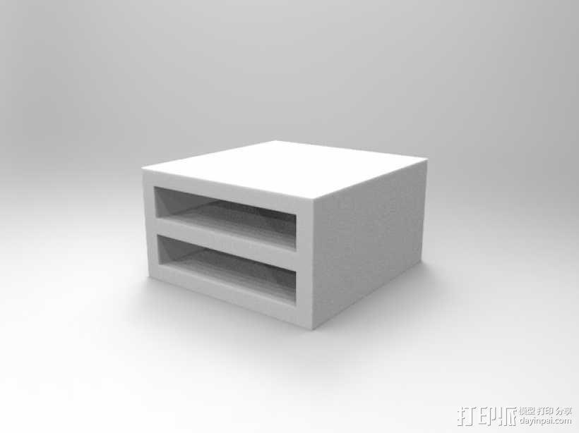 双层硬盘盒 3D模型  图2