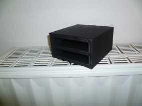 双层硬盘盒 3D模型