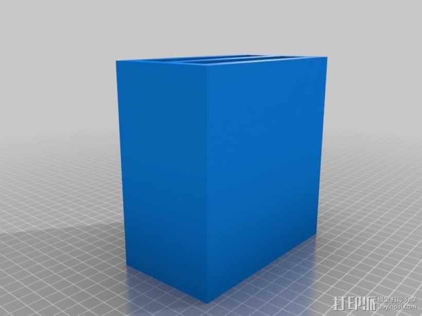 双层硬盘盒 3D模型  图4