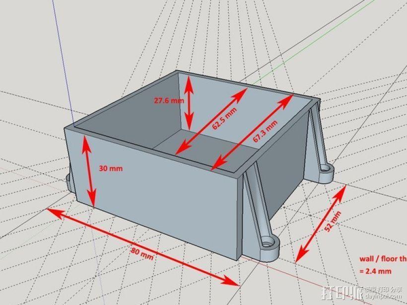 储物盒 游戏机盒 3D模型  图3