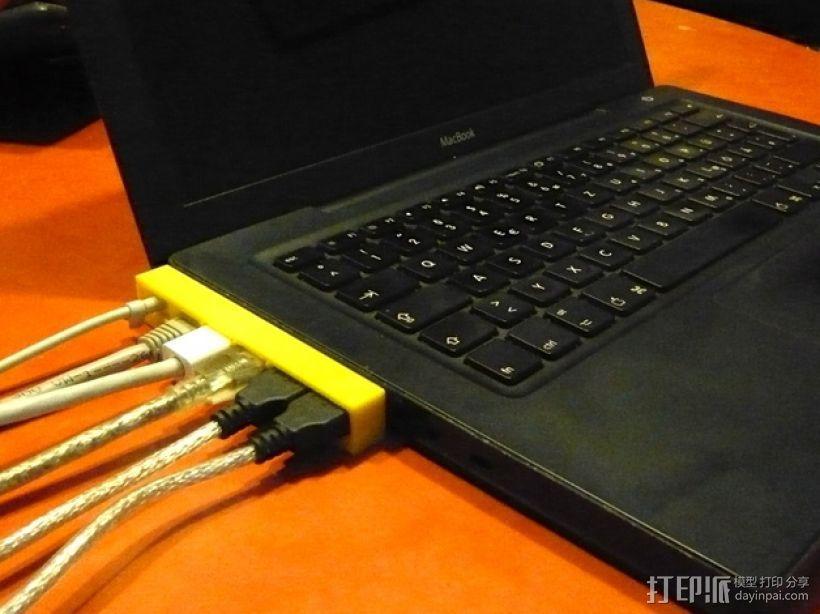 苹果MacBook笔记本电脑插线保护器 3D模型  图2