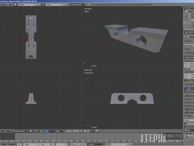 电缆固定器 3D模型  图5