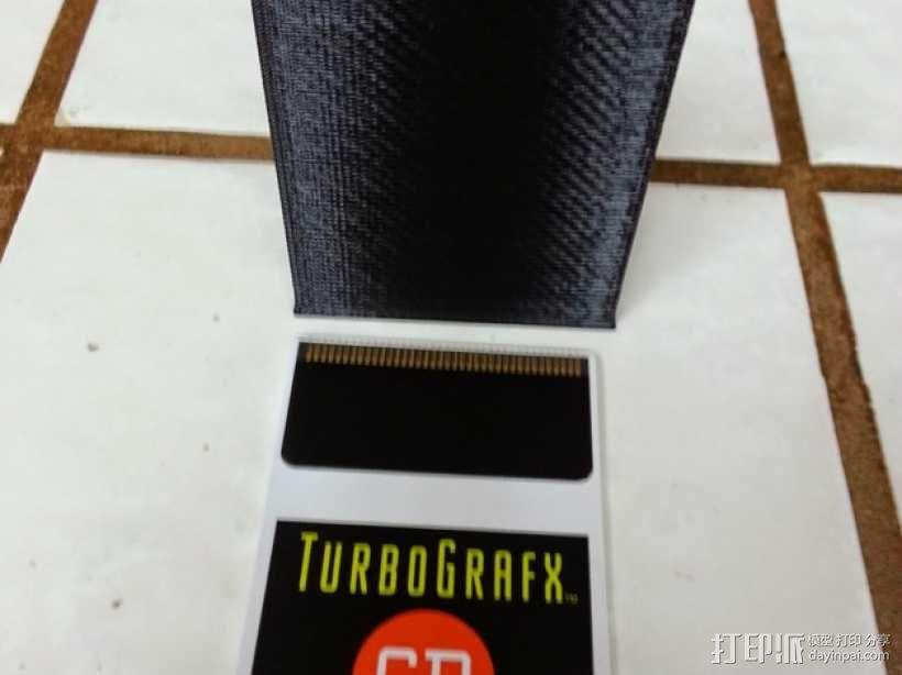 Turbografx-16游戏机 游戏碟盒子 3D模型  图1