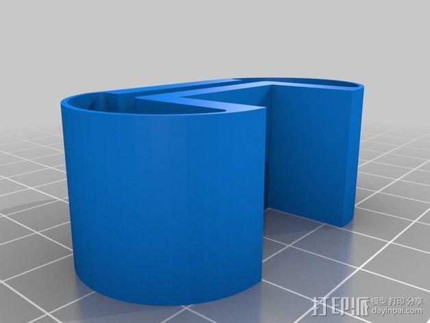 synology ds214服务器的防震底座 3D模型  图2