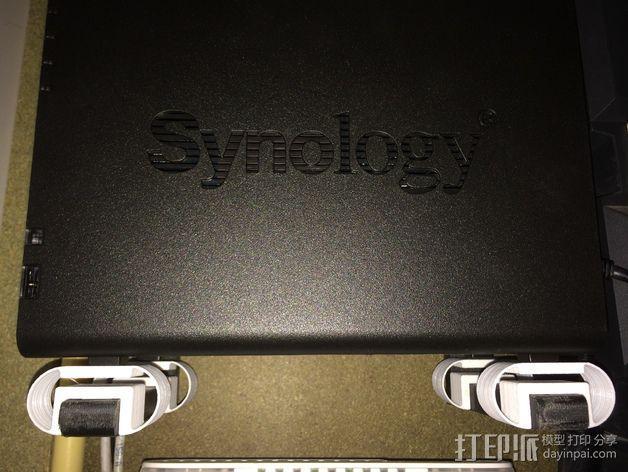 synology ds214服务器的防震底座 3D模型  图3