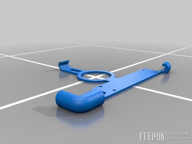 三维结构扫描仪固定座座 3D模型  图2