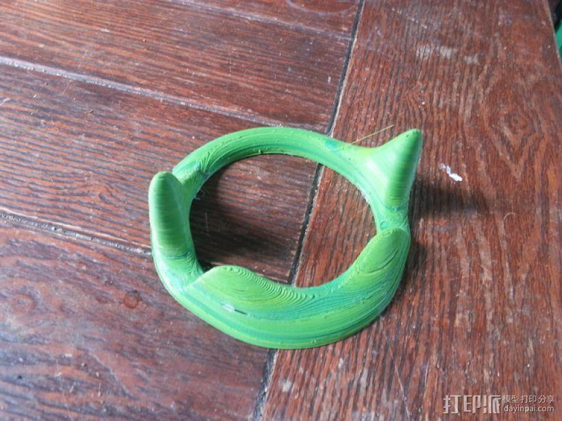 花托形平板电脑支撑架· 3D模型  图2