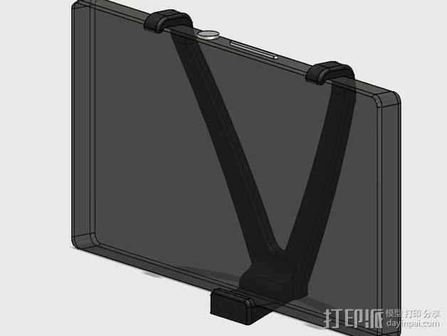 车载式索尼Sony Xperia Z手机支架 3D模型  图1