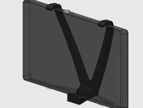 车载式索尼Sony Xperia Z手机支架 3D模型
