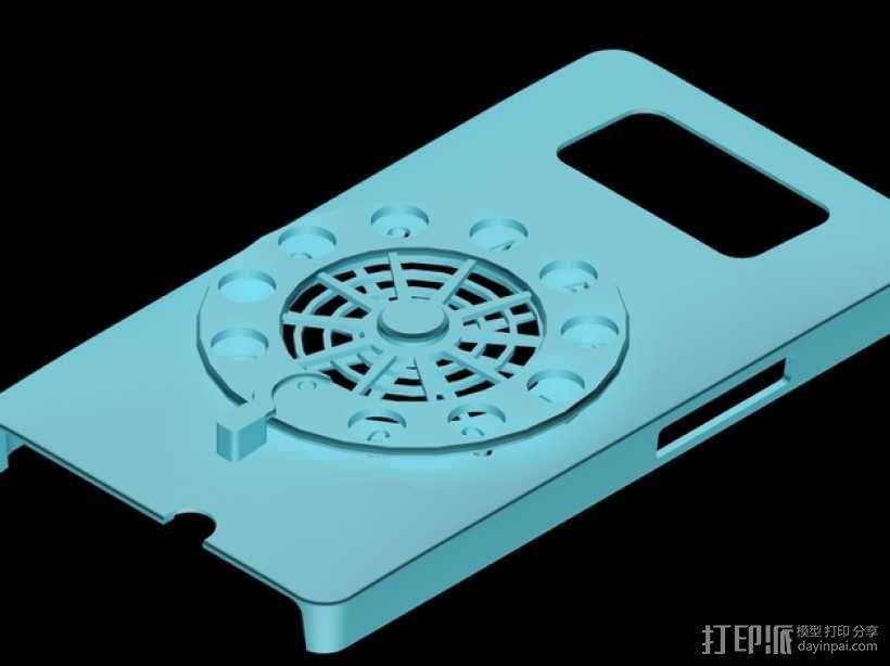 HTC HD2手机保护壳 3D模型  图1