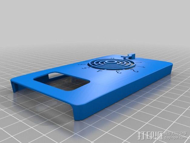 HTC HD2手机保护壳 3D模型  图4