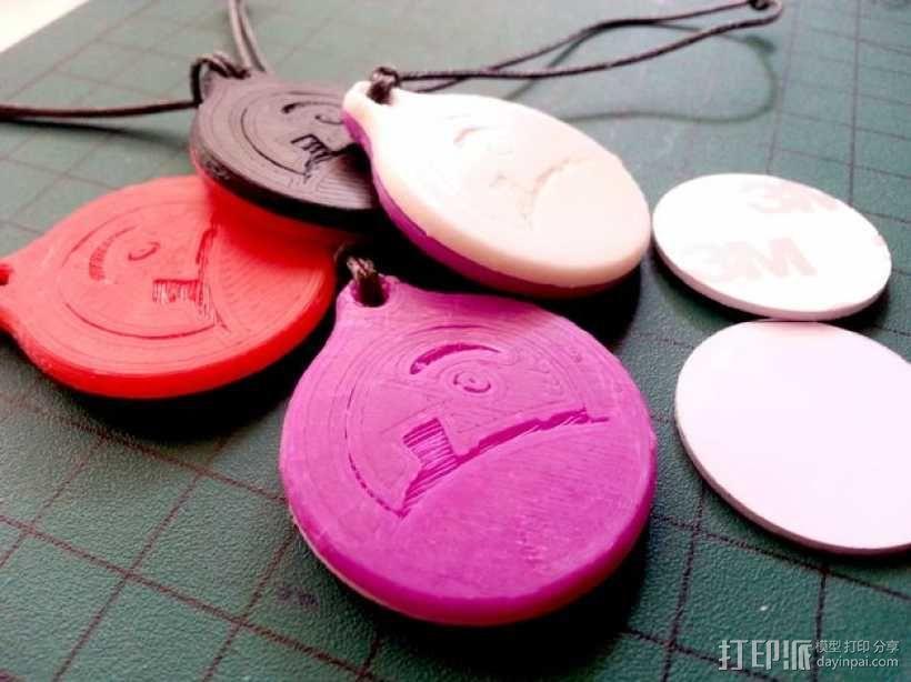 NFC徽章钥匙扣 3D模型  图1