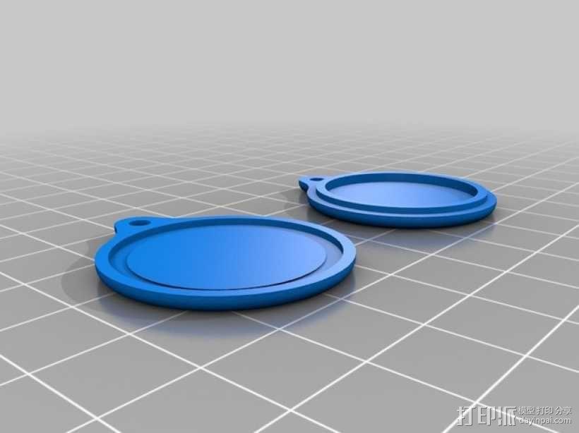 NFC徽章钥匙扣 3D模型  图2