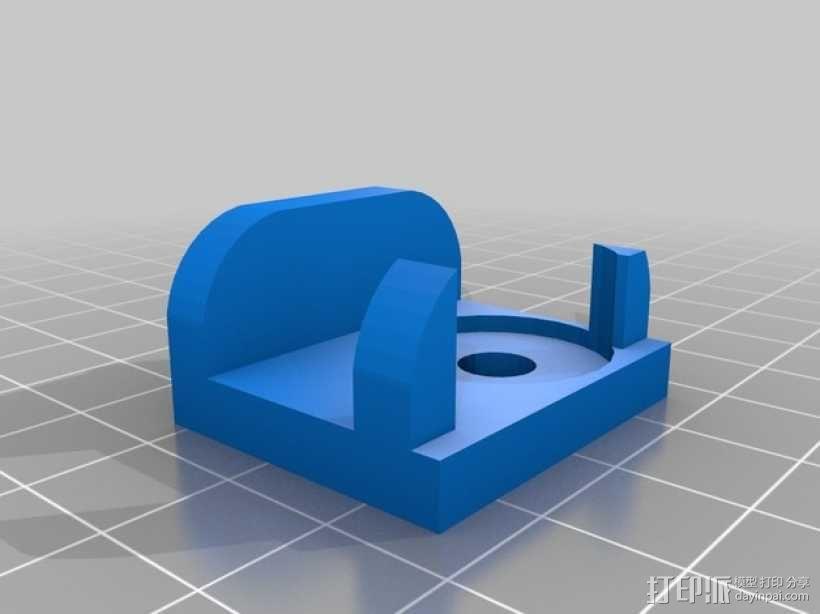 Gopro Hero 3摄像头固定槽 3D模型  图2