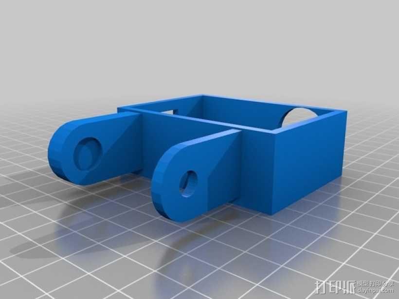 Gopro Hero 3摄像头固定槽 3D模型  图3