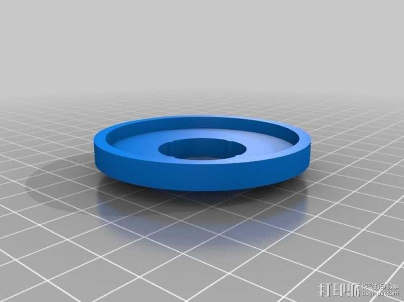 GoPro Hero 3相机滤镜适配器 3D模型  图2