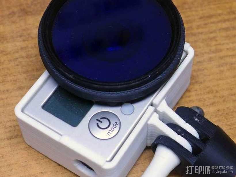 GoPro Hero 3相机滤镜适配器 3D模型  图1