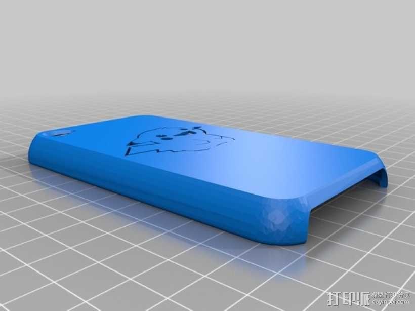皮卡丘IPod 4外壳 3D模型  图1