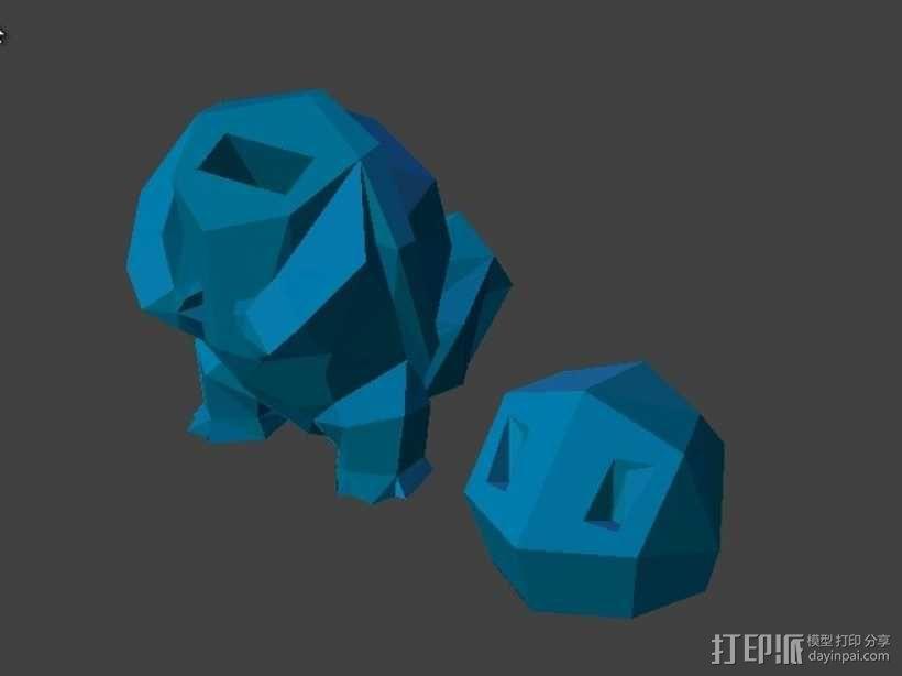 杰尼龟USB套 3D模型  图1