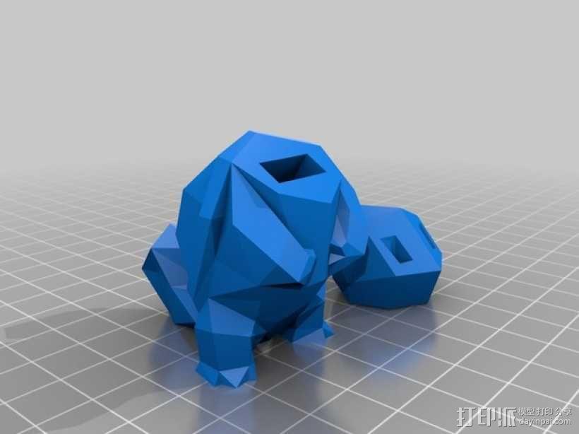 杰尼龟USB套 3D模型  图2
