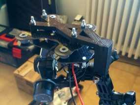 三轴稳定器  3D模型
