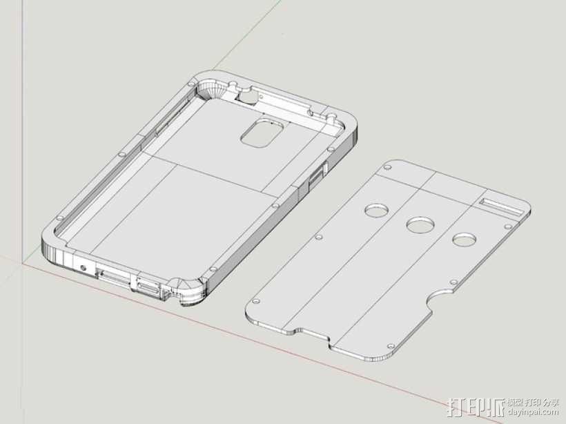 三星Galaxy Note 3外壳 3D模型  图1
