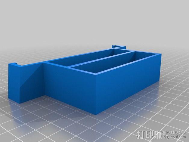 双层式硬盘架 3D模型  图2