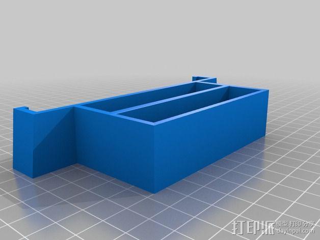 双层式硬盘架 3D模型  图3