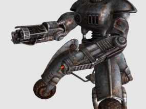 辐射 警戒机器人 3D模型