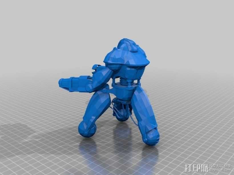 辐射 警戒机器人 3D模型  图2
