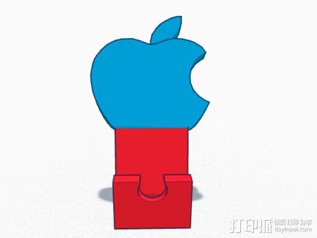苹果设备站架 3D模型  图2